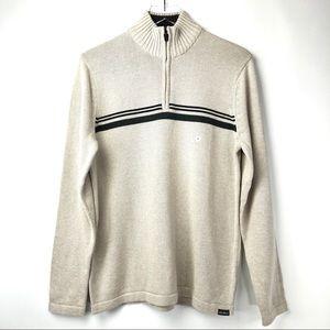 Eddie Bauer Men's 1/4-Zip Stripe Design Sweater